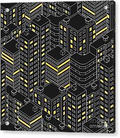 Abstract Black Seamless Pattern Acrylic Print