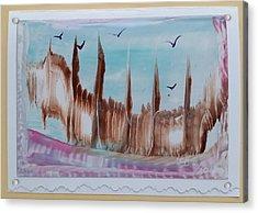 Abstract Castles Acrylic Print