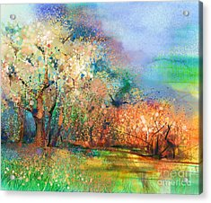 Abstract Colorful Landscape Painting Acrylic Print