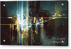 Abstract Digital Painting,creative Acrylic Print