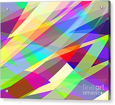 Abstract Editable Vector Background Of Acrylic Print