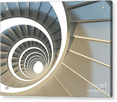 Abstract Endless Spiral Staircase With Acrylic Print