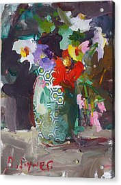 Abstract Flower Still Life Painting Acrylic Print