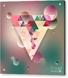 Abstract Geometric Background With Acrylic Print