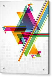 Abstract Geometric Shapes With Acrylic Print