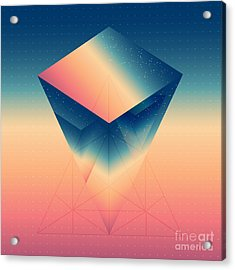 Abstract Isometric Prism With The Acrylic Print