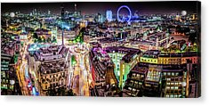 Acrylic Print featuring the photograph Abstract London by Stewart Marsden