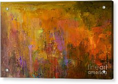 Abstract Oil Painting Background. Oil Acrylic Print