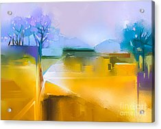 Abstract Oil Painting Background Acrylic Print
