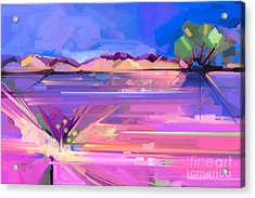 Abstract Oil Painting  Landscape Acrylic Print