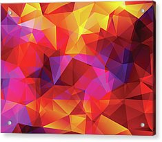Abstract  Polygonal  Background Acrylic Print by Carduus