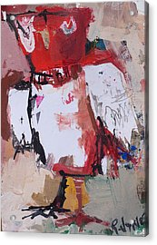Abstract Red Owl Acrylic Print