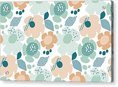 Abstract Stylized Floral. Abstract Pale Acrylic Print