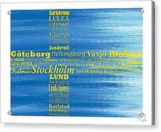 Abstract Swedish Flag  Acrylic Print