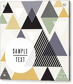 Abstract Triangle Design With Text Acrylic Print