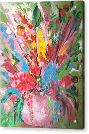 Abstract Vase Of Flowers Acrylic Print