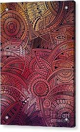 Abstract Vector Tribal Ethnic Acrylic Print
