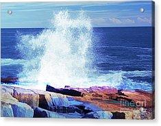Crashing Waves At Schoodic Point Abstract Acrylic Print