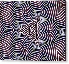 Abstract Zebra Design Acrylic Print