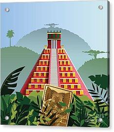 Acient Mayan Pyramid Acrylic Print