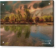 Acrylic Print featuring the photograph Across The Water by Leigh Kemp