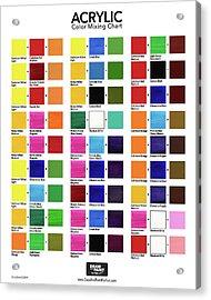 Acrylic Color Mixing Chart Acrylic Print by Chris Breier