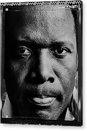 Actor Sidney Poitier Portrait Session Acrylic Print by George Rose