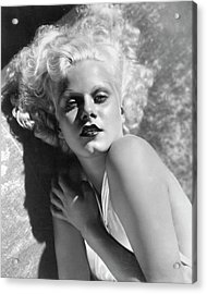 Actress Jean Harlow In Seductive Pose Acrylic Print by Bettmann