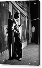 Actress Lauren Bacall Smoking A Acrylic Print by Alfred Eisenstaedt