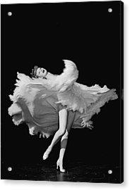 Actress Lucille Ball Dancing In Scene Acrylic Print by John Florea