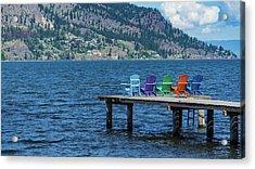 Adirondack Dock Acrylic Print