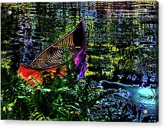 Acrylic Print featuring the photograph Adirondack Guide Boat by David Patterson