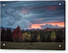 Adirondack Loj Road Sunset Acrylic Print