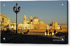 Acrylic Print featuring the photograph adiz Cathedral from Southern Field Spain by Pablo Avanzini