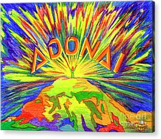 Acrylic Print featuring the painting Adonai by Nancy Cupp