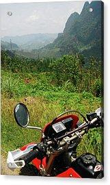 Adventure Motorbike Trip Through Acrylic Print