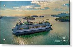 Adventure Of The Seas, Bar Harbor  Acrylic Print