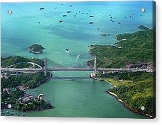 Aerial Image Of A Bridge Acrylic Print