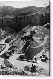 Aerial Of Valley Of The Kings Acrylic Print by Hulton Archive