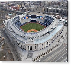 Aerial Photos Of The New Yankee Stadium Acrylic Print by New York Daily News Archive