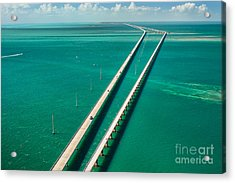 Aerial View Looking West Along The Acrylic Print