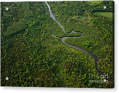 Aerial View Of A Winding River Acrylic Print