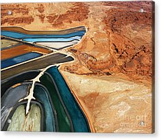 Aerial View Of An Arid, Craggy Acrylic Print