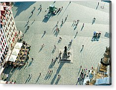 Aerial View Of  Neumarkt Square In Acrylic Print