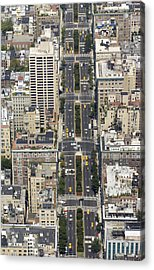Aerial View Of Park Ave. In Manhattan Acrylic Print