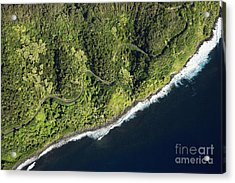Aerial View Of Scenic Road Along Coast Acrylic Print