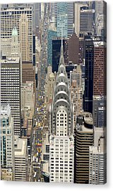 Aerial View Of The Chrysler Building In Acrylic Print