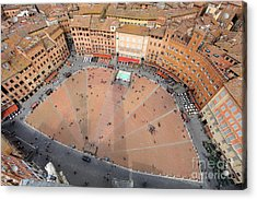 Aerial View Of The Piazza Del Campo Acrylic Print