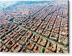 Aerial View Of Typical Houses At Acrylic Print