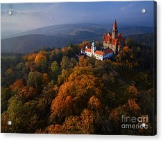 Aerial View On Romantic Fairy Castle In Acrylic Print